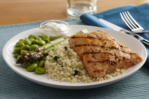 Grilled Salmon with Seasoned Couscous, Image by Seattle Sutton's Healthy Eating