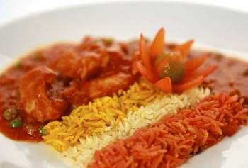 Thai Red Chicken Curry with Tricolour Rice, Image by Nutrichef